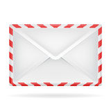 Closed envelope object perspective view isolated Stock Images