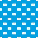 Closed envelope pattern seamless blue. Closed envelope pattern repeat seamless in blue color for any design. Vector geometric illustration Royalty Free Stock Photos