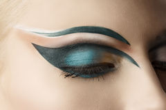 Closed eye closeup with makeup Royalty Free Stock Image