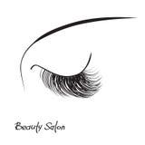 Closed eye with long eyelashes Royalty Free Stock Photo