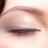 Closed eye make up Stock Images