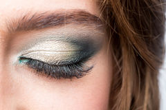 Closed eye with makeup Royalty Free Stock Photos