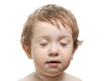 Closed eyes Royalty Free Stock Images
