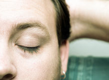 Closed eyes Stock Images