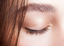 Closed female eye makeup Royalty Free Stock Images