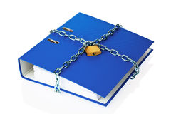 Closed file folder with chain Stock Images