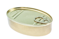 Closed fish canning pot, tin. Royalty Free Stock Photography