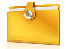 Closed folder Stock Image