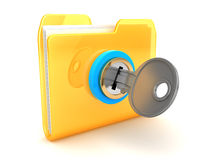 Closed folder Royalty Free Stock Images