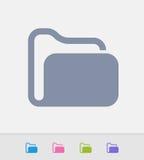 Closed Folder - Granite Icons Royalty Free Stock Image