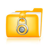 Closed folder icon. Computer illustration Royalty Free Stock Image