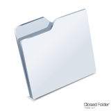 Closed folder icon isolated. Stock Photo