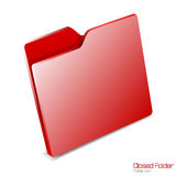 Closed folder icon isolated. Royalty Free Stock Photos