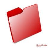 Closed folder icon isolated. Royalty Free Stock Photos