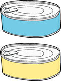 Closed Food Cans vector illustration