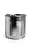Closed food tin can Royalty Free Stock Image