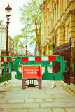 Closed footpath Royalty Free Stock Image