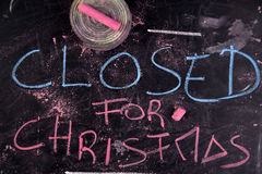 Closed For Christmas Royalty Free Stock Photography