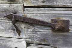 Closed forged latch Royalty Free Stock Photos