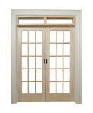 Closed french doors Stock Photography