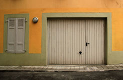 Closed garage door Royalty Free Stock Images