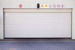 Closed garage gate Stock Image