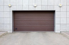 Closed garage gate Royalty Free Stock Images