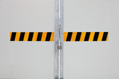 Closed gate in construction site Stock Photography