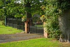 Closed gate Stock Image