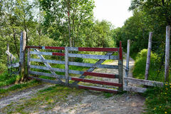 Closed gate Royalty Free Stock Photos