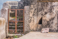 A closed gate in ranthambhore fort Royalty Free Stock Photos