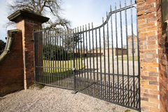 Closed gates Royalty Free Stock Images