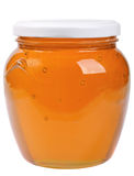 The only closed glass jar with honey Royalty Free Stock Photography