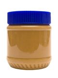 Closed Glass Of Peanut Butter W/ Path (Side View) Stock Photos