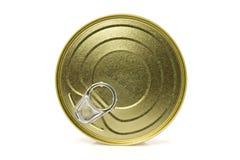 Closed gold metal tin. Stock Photography