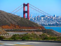 The Closed Golden Gate Recreational Area. The Golden Gate Recreational Area closed due to the Federal government shutdown Royalty Free Stock Images