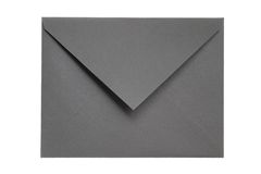 Closed Gray Envelope. Isolated on White Background Stock Photography