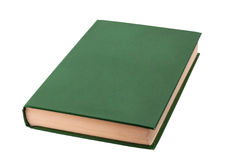 Closed green book isolated Royalty Free Stock Image