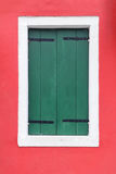 Closed green window shutters Royalty Free Stock Photos