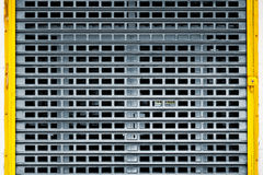 Closed Grunge Metallic Door Royalty Free Stock Images