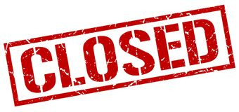 Closed stamp. Closed grunge stamp on white background Royalty Free Stock Photo