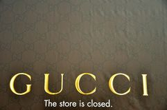 Closed Gucci store in Italy Royalty Free Stock Images