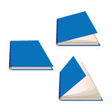 Closed and half-open books Royalty Free Stock Photo