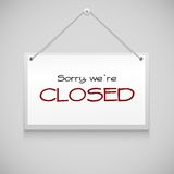 Closed hanging sign Royalty Free Stock Photo