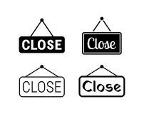 Closed hanging signs Stock Image