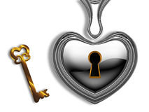 Closed heart Royalty Free Stock Photos