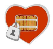 Closed heart Royalty Free Stock Photo