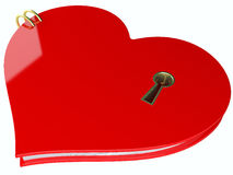 Closed heart with a keyhole Royalty Free Stock Images