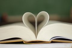 .Closed heart shape. Closed heart shape from the book stock photo