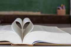 .Closed heart shape from the book stock photography